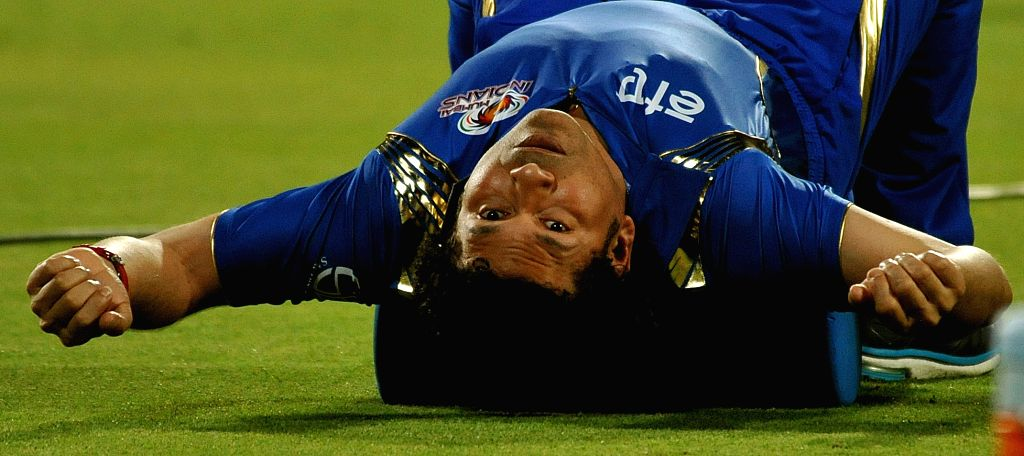 Mumbai Indians (MI) icon Sachin Tendulkar at the Eden Gardens in Kolkata, on April 8, 2015.