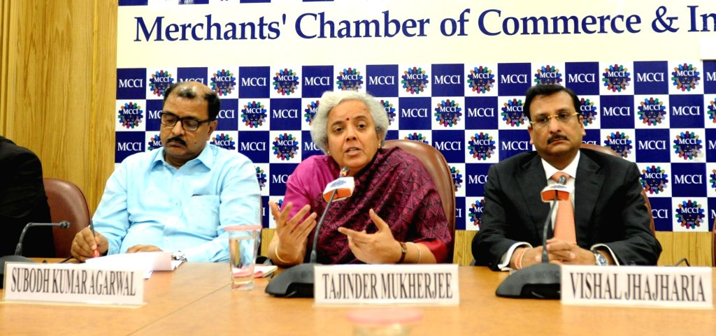 """Kolkata: National Insurance CMD Tajinder Mukherjee  during a special session organised by MCCI on """"Way Forward for Insurance Industry in India"""" in Kolkata on Jan 29, 2019. (Photo: IANS) - Tajinder Mukherjee"""