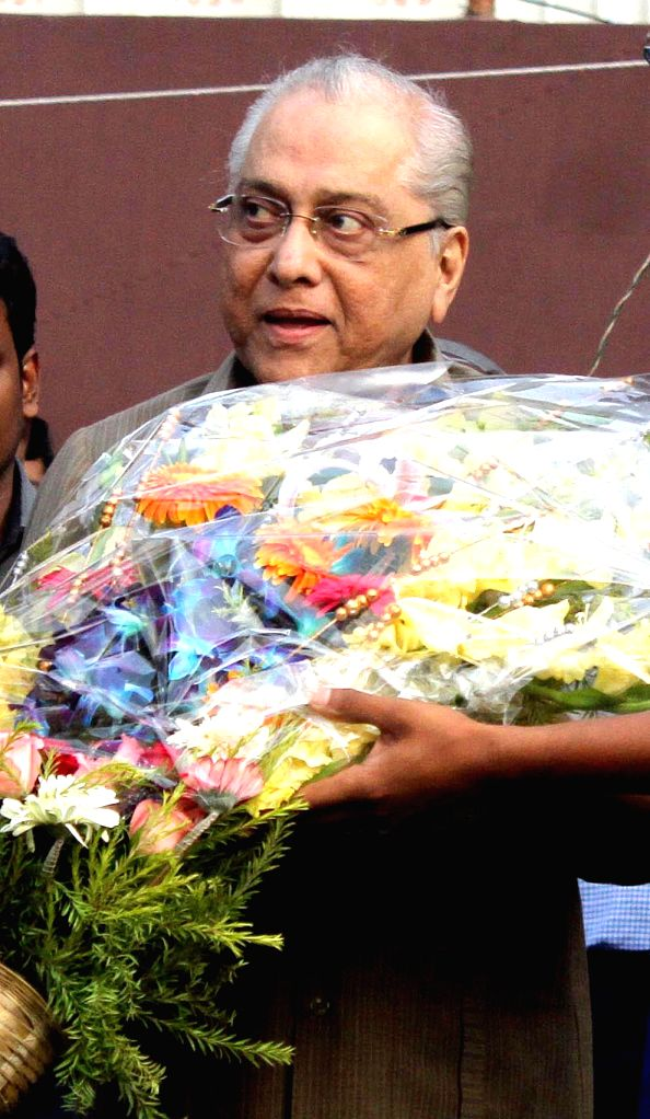 Newly elected BCCI chief Jagmohan Dalmiya during Mayor's Cup prize distribution ceremony at the Eden Gardens in Kolkata, on March 4, 2015.