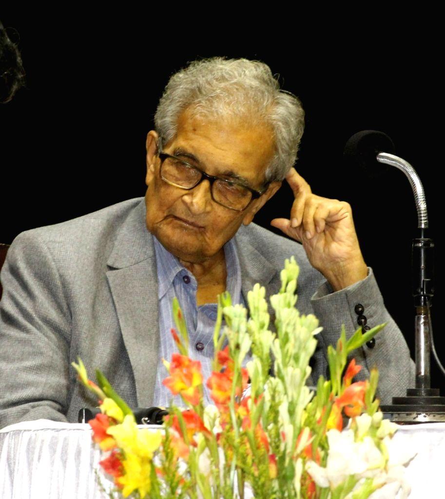 Kolkata: Nobel Laureate Amartya Sen during a programme in Kolkata, on Aug 27, 2019. (Photo: IANS)
