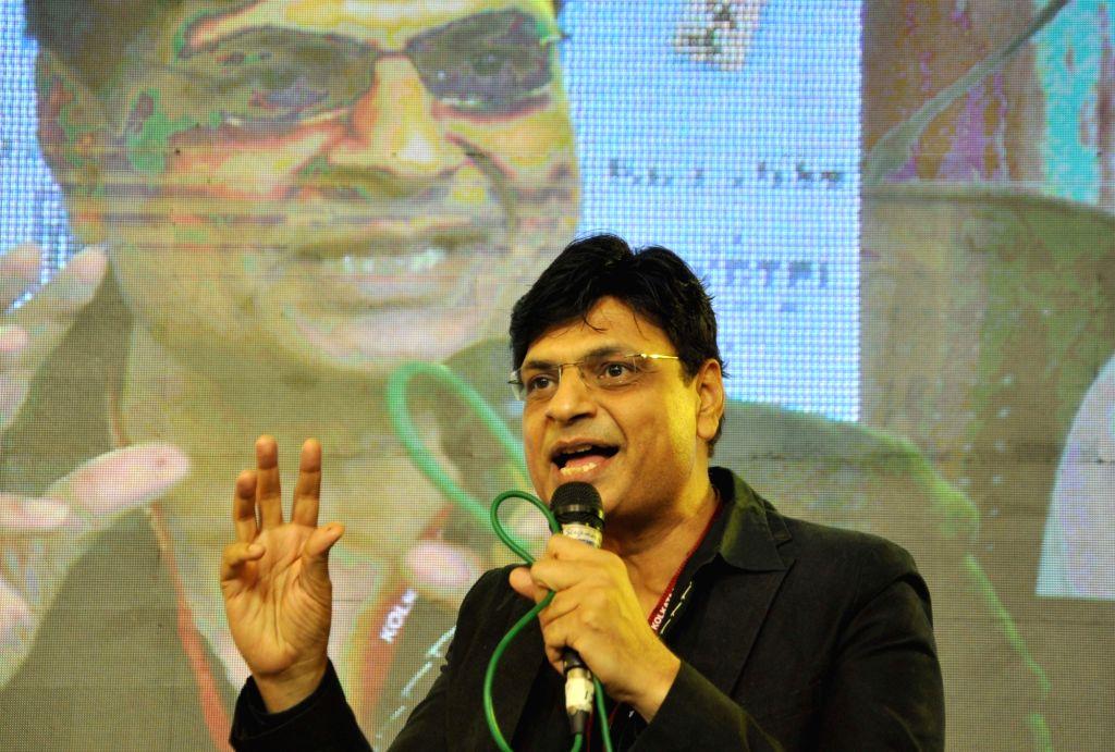 Kolkata: Noted lyricist and Hindi poet Irshad Kamil at Kolkata Literature Festival during 43rd Kolkata International Book Fair in Kolkata on Feb 8, 2019. (Photo: Kuntal Chakrabarty/IANS)