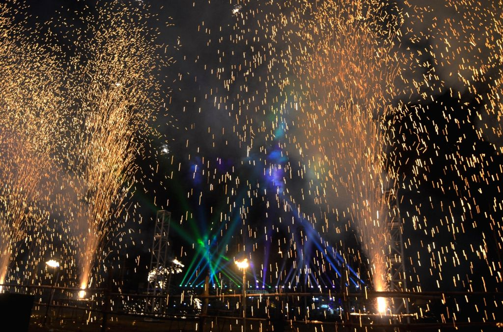 Kolkata : People celebrate Diwali with fire crackers in Kolkata on Nov 11, 2015. (Photo: Kuntal Chakrabarty/IANS )