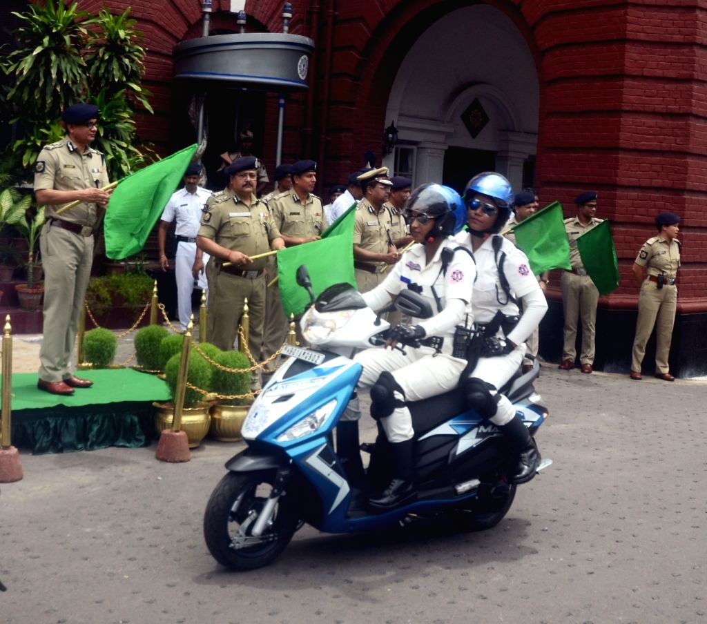 "Kolkata Police flags off ""The Winners"" - a special all-women patrolling team to combat and prevent crimes like molestation, eve-teasing etc. and to make public places safer for ..."