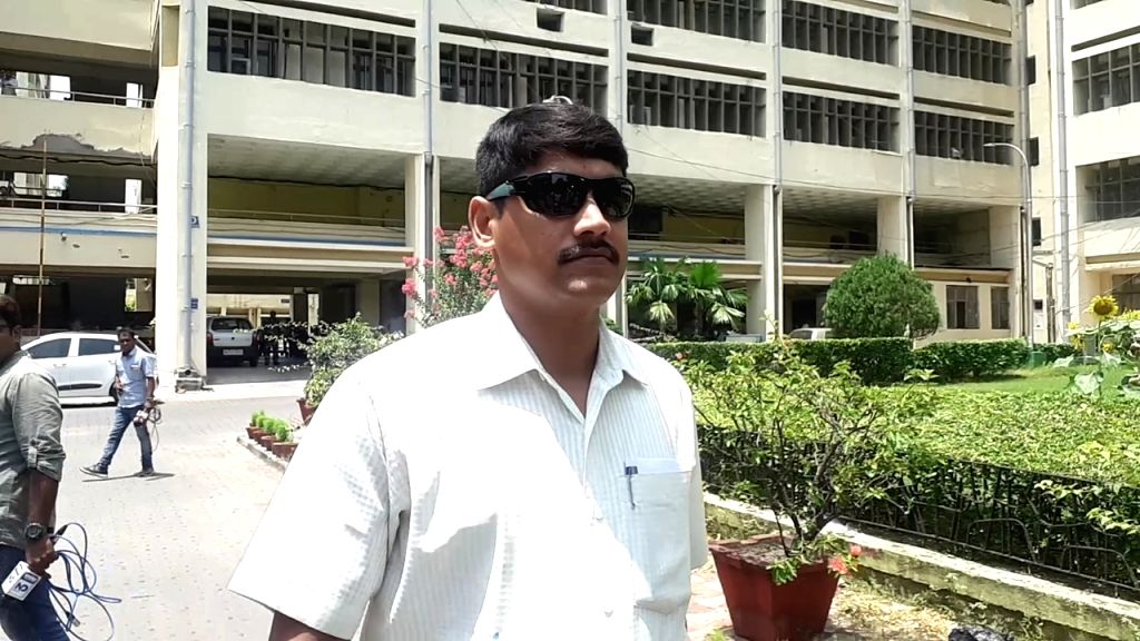 Kolkata Police officer Prabhakar Nath comes out after being interrogated by the Central Bureau of Investigation in the multi-crore Saradha Chit Fund scam, in Kolkata on May 28, 2019. - Prabhakar Nath