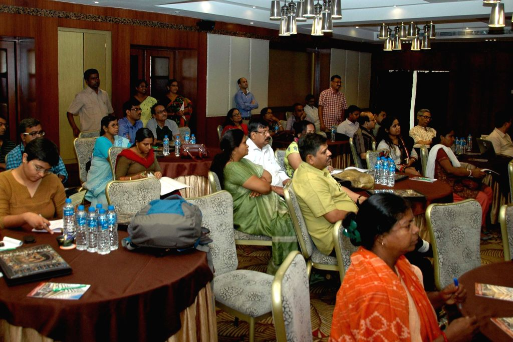Representatives of various domestic worker organisation from seven states during a workshop on National Cosultation on Domestic Worker in Kolkata on June 19, 2015.