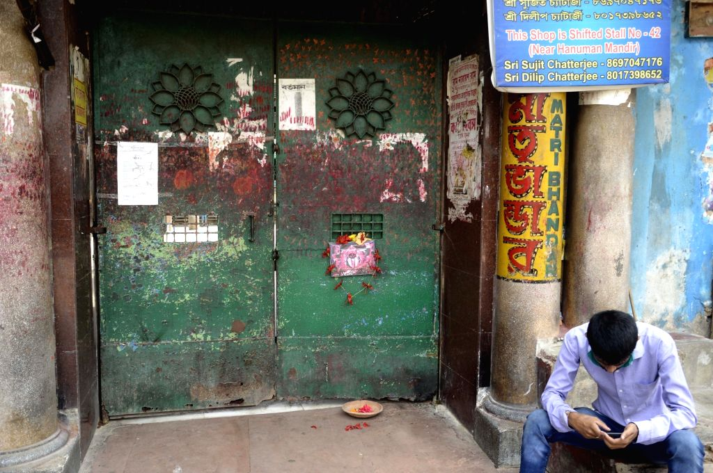 Kolkata's Kalighat Kali temple remains closed on Akshaya Tritiya during the extended nationwide lockdown imposed to mitigate the spread of coronavirus; on Apr 26, 2020.