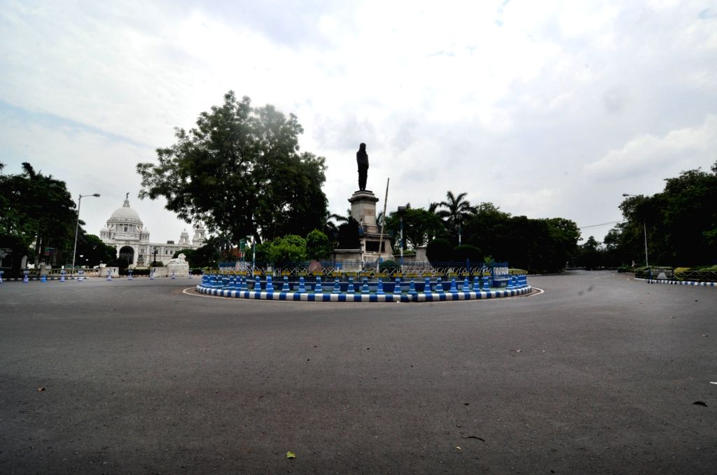 Kolkata's Victoria Memorial bears a deserted look during the extended nationwide lockdown imposed to mitigate the spread of coronavirus; on Apr 22, 2020.