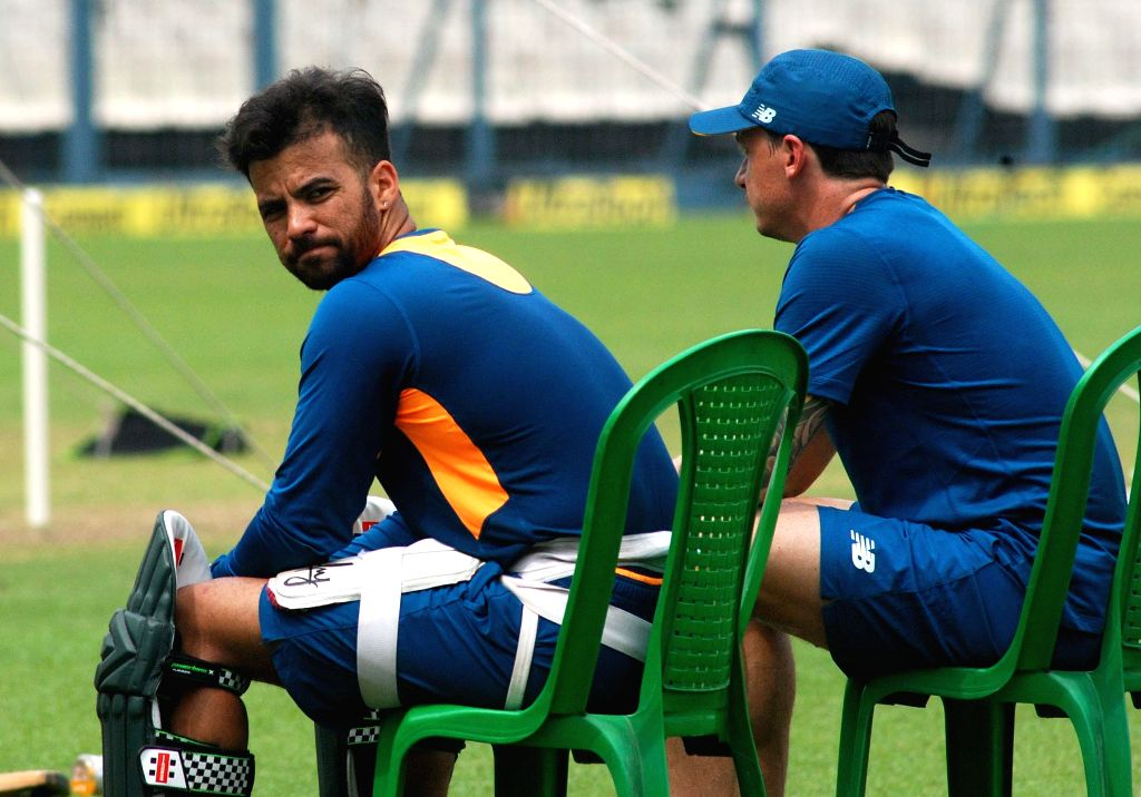 :Kolkata: South African cricketers JP Duminy and Dale Steyn during a practice session ahead of the third T20 match against India, at Eden Gardens in Kolkata, on Oct 7, 2015. (Photo: Kuntal ...
