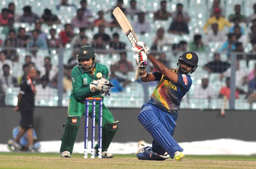 Kolkata: Sri Lankan player Lahiru Thirimanne in action during the Warm-Up match of ICC World T20 between Pakistan and Sri Lanka at Eden Gardens in Kolkata on March 14, 2016. (Photo: Kuntal Chakrabarty/IANS)