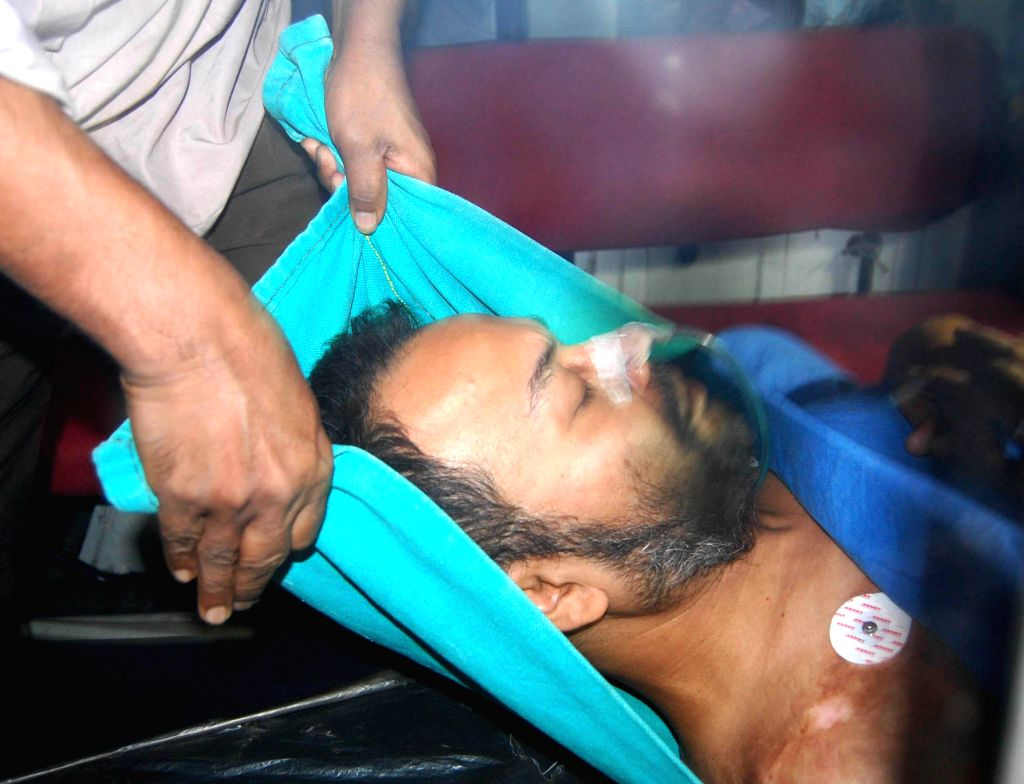 Suspended Trinamool Congress MP Kunal Ghosh who reportedly attempted suicide being shifted to SSKM Hospital in Kolkata, on Nov 14, 2014. Ghosh, was in jail for his alleged complicity in the . - Kunal Ghosh