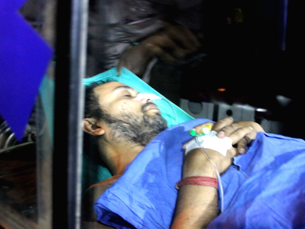 Suspended Trinamool Congress MP Kunal Ghosh who reportedly attempted suicide, being shifted to SSKM Hospital in Kolkata, on Nov 14, 2014. Ghosh, was in jail for his alleged ... - Kunal Ghosh