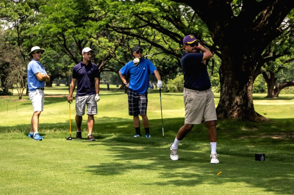 The chief executive of Kolkata Knight Riders, Venky Mysore enjoys Golf at Royal Calcutta Golf Course in Kolkata, on April 12, 2015.