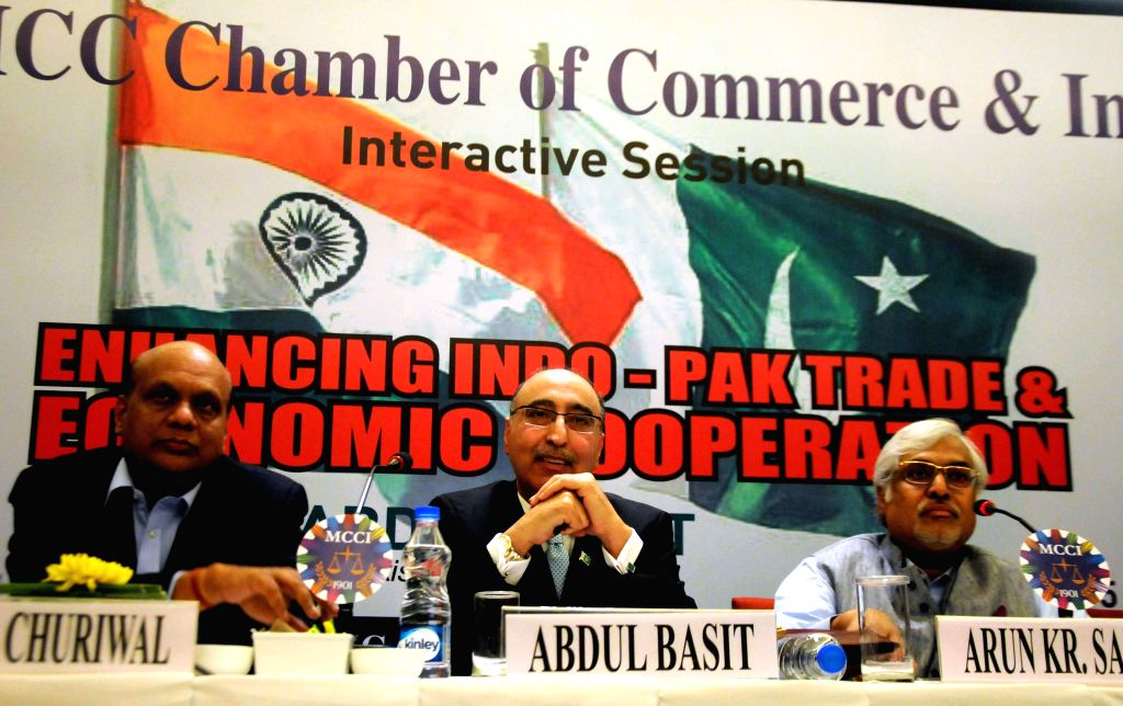 The High Commissioner of Pakistan in India, Abdul Basit during an ​interactive session on `Enhancing Indo-Pak Trade and Economic Cooperation` in Kolkata, on March 18, 2015.
