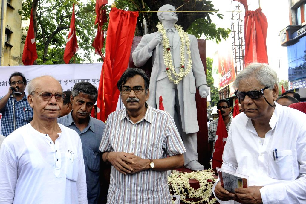 The leader of opposition in West Bengal Assembly and Communist Party of India-Marxist state secretary Surya Kanta Mishra during a progrmme organised on birth anniversary of Russian communist ... - Kanta Mishra