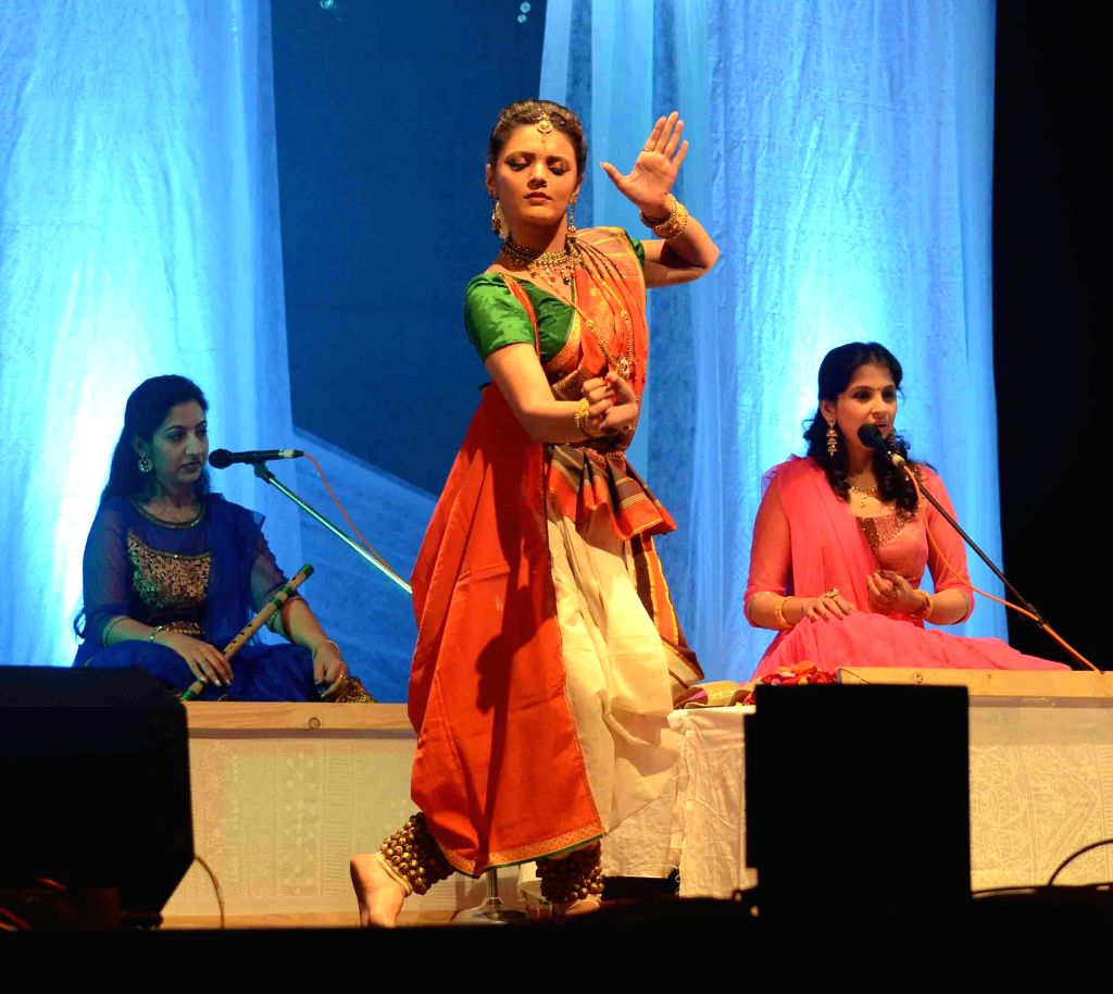 The members of `Sakhi` -  an all girl band, perform during a programme in Kolkata, on Jan 20, 2015.
