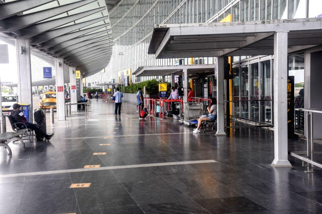 Kolkata: The Netaji Subhash Chandra Bose International Airport bears a deserted look, in Kolkata on July 6, 2020. Airport Authority of India-run Kolkata Airport on Saturday said that no flights shall operate to Kolkata from six domestic destinations