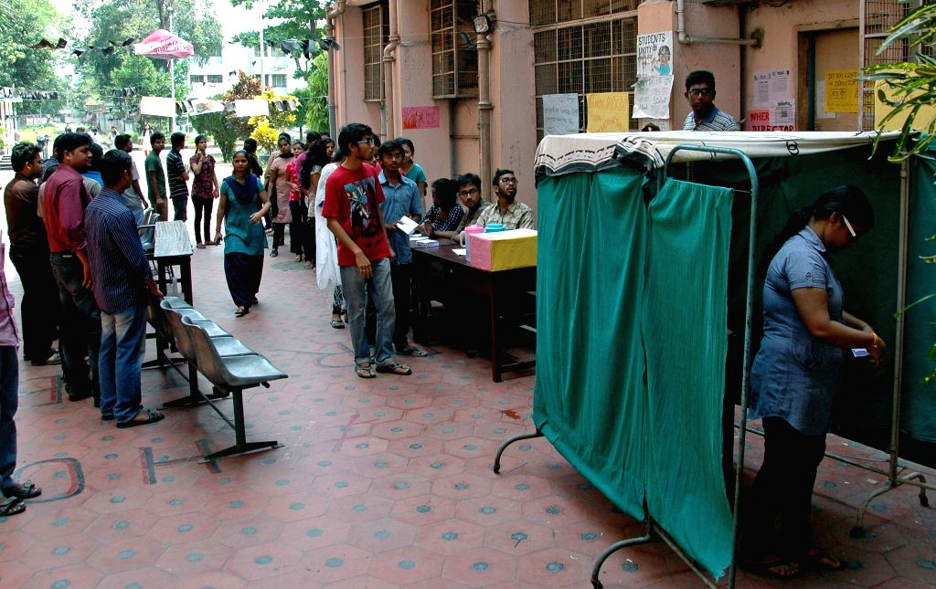 The students of National Institute of Homeopathy cast their vote to press for removal of S.K Nanda, the director of NIH in Kolkata, on April 1, 2015.