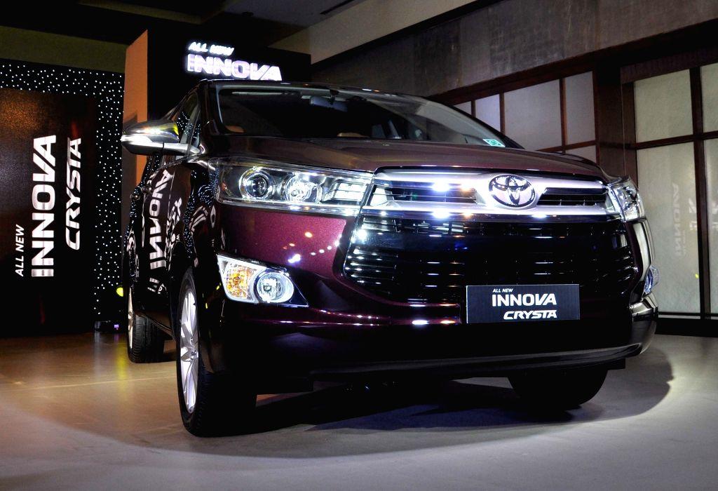 Kolkata: Toyota Kirloskar Motor launches new Innova Crysta in Kolkata, on May 12, 2016. (Photo: Kuntal Chakrabarty/IANS)