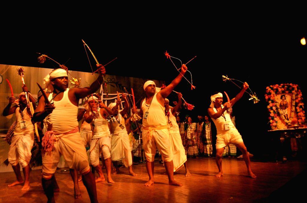 "Kolkata: Tribal artistes perform during ""Hul Utsav"" - a tribal festival in Kolkata, on June 30, 2019. (Photo: IANS)"