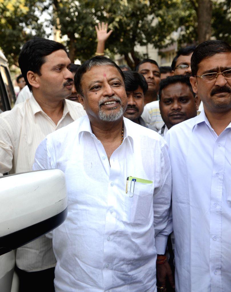 Trinamool Congress' All India General Secretary and Rajya Sabha member, Mukul Roy at Nizam Palace in Kolkata, on Feb 21, 2015.