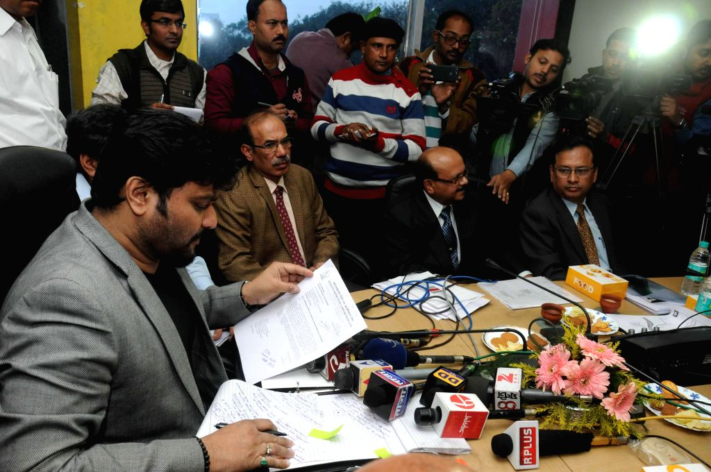 Union Minister of State for Urban Development Babul Supriyo during a meeting with  the officials of  Kolkata Metro Rail Corporation Limited ahead of a meeting regarding East-West Metro ...