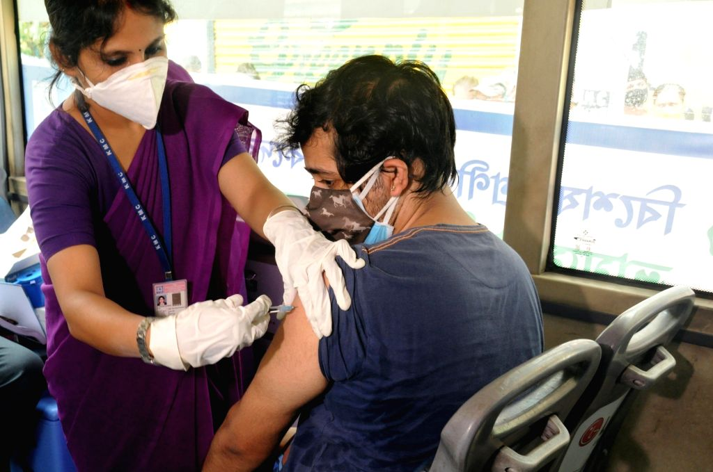 Kolkata:  Vaccination on wheel a bus was turned into a COVID vaccination center, which will travel to different markets of Kolkata to vaccinate priority groups, the shop owners, transport workers, hawkers, retailers including vegetable and fish selle