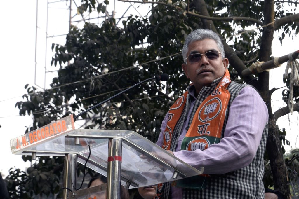 Kolkata: West Bengal BJP president Dilip Ghosh during the state's BJP minority cell rally in Kolkata on Jan 11, 2018. (Photo: IANS) - Dilip Ghosh