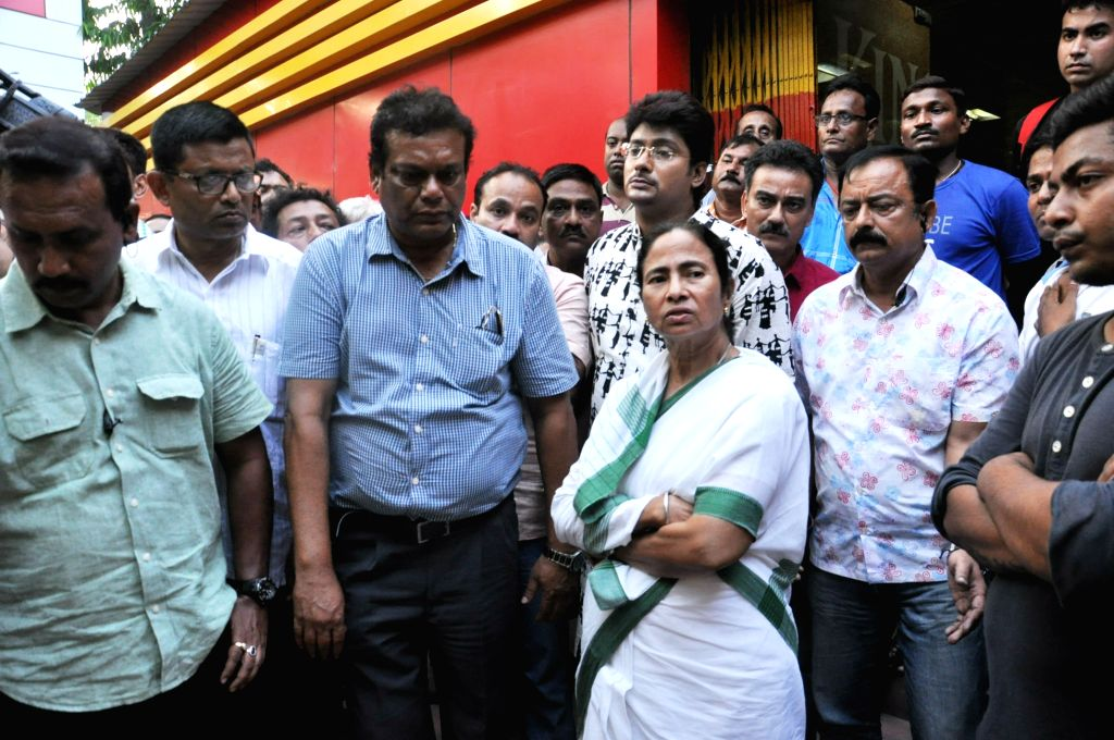 West Bengal Chief Minister Mamata Banerjee arrives to pay tribute to former Bengal Under-19 captain Ankit Kesri who succumbed to a head injury on April 20, 2015. He had sustained a head ... - Mamata Banerjee