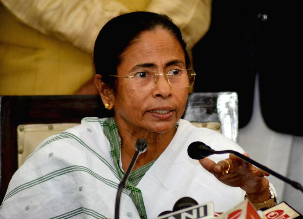 Kolkata: West Bengal Chief Minister Mamata Banerjee addresses a press conference at State Assembly in Kolkata on Jan 31, 2018. (Photo: IANS) - Mamata Banerjee