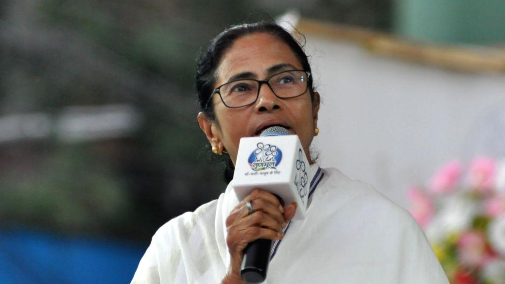 Kolkata: West Bengal Chief Minister Mamata Banerjee campaigns for Mimi Chakraborty, Trinamool Congress (TMC) candidate for Jadavpur Lok Sabha seat during a party rally in Kolkata on May 14, 2019. (Photo: Kuntal Chakrabarty/IANS) - Mamata Banerjee and Mimi Chakraborty