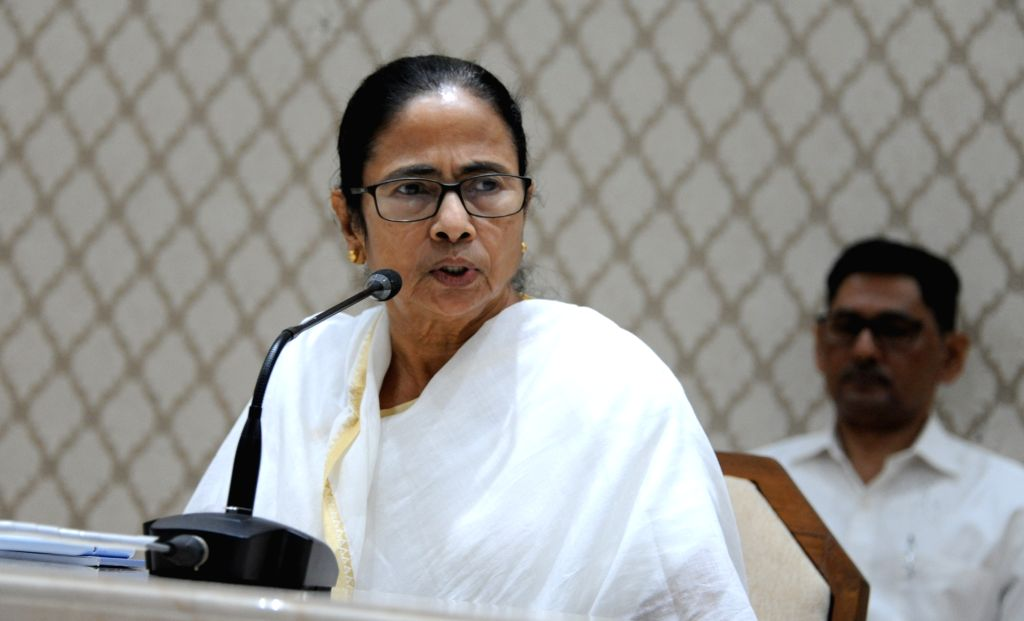 Kolkata: West Bengal Chief Minister Mamata Banerjee presides over a cabinet meeting in Kolkata, on Oct  16, 2019. (Photo: IANS) - Mamata Banerjee
