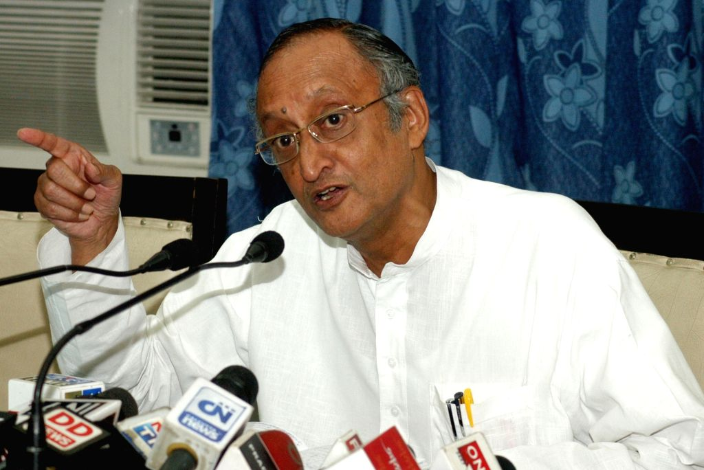 Kolkata: West Bengal Finance Minister Amit Mitra addresses a press conference at West Bengal Assembly in Kolkata on  June 17, 2016. (Photo: IANS) - Amit Mitra