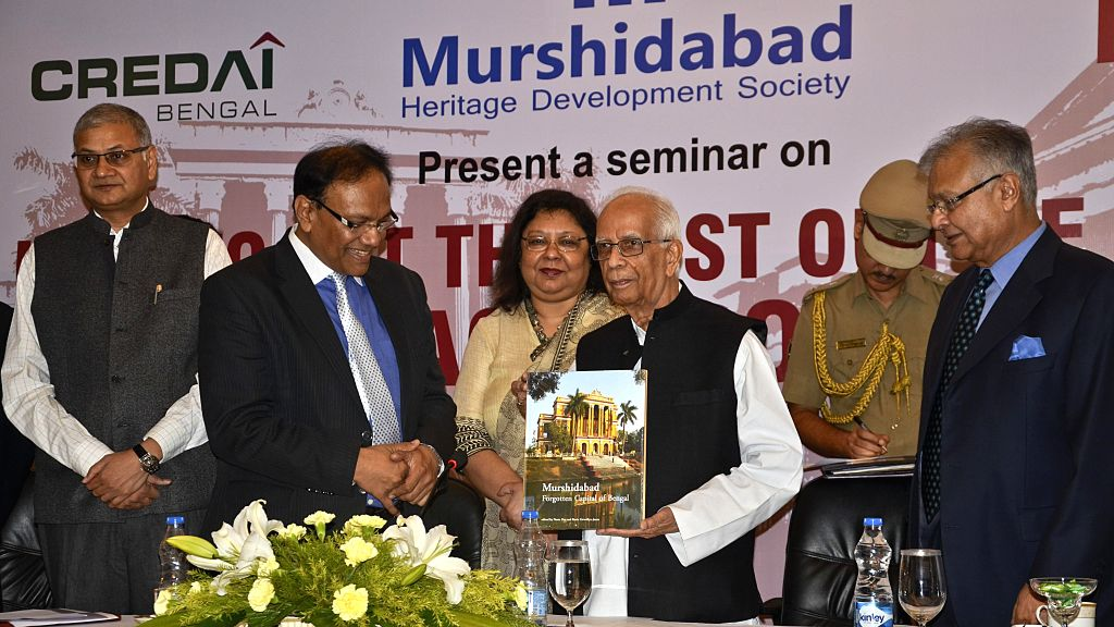 West Bengal Governor Keshari Nath Tripathi releases a book `Murshidabad` Forgotten Capital of Bengal at the inaugural session of the seminar and panel discussion on get the best out of your .