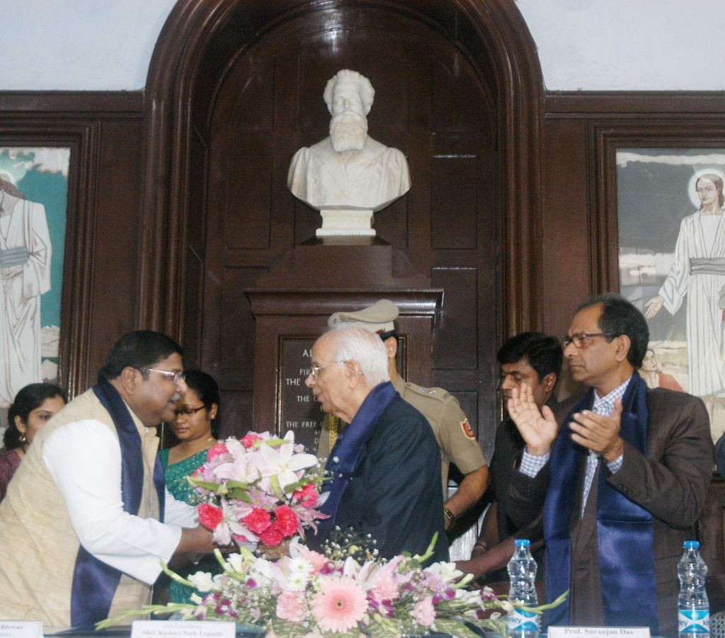West Bengal Governor Keshari Nath Tripathi during a programme organised to mark the 8th anniversary of the commencement of Post Graduate Studies at Scottish Church College in Kolkata on Dec - Keshari Nath Tripathi