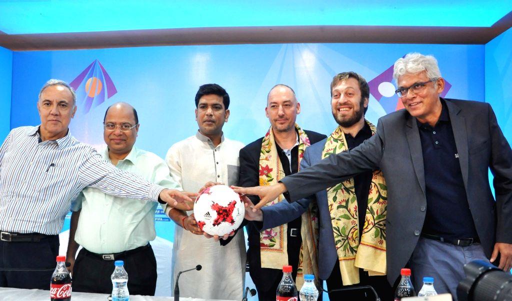 Kolkata: West Bengal Sports Minister Laxmi Ratan, FIFA Head of Tournaments U-17 World Cup Jaime Yarza, FIFA U-17 World Cup India 2017 Tournament Director Javier Ceppi and Project Director ... - Laxmi Ratan