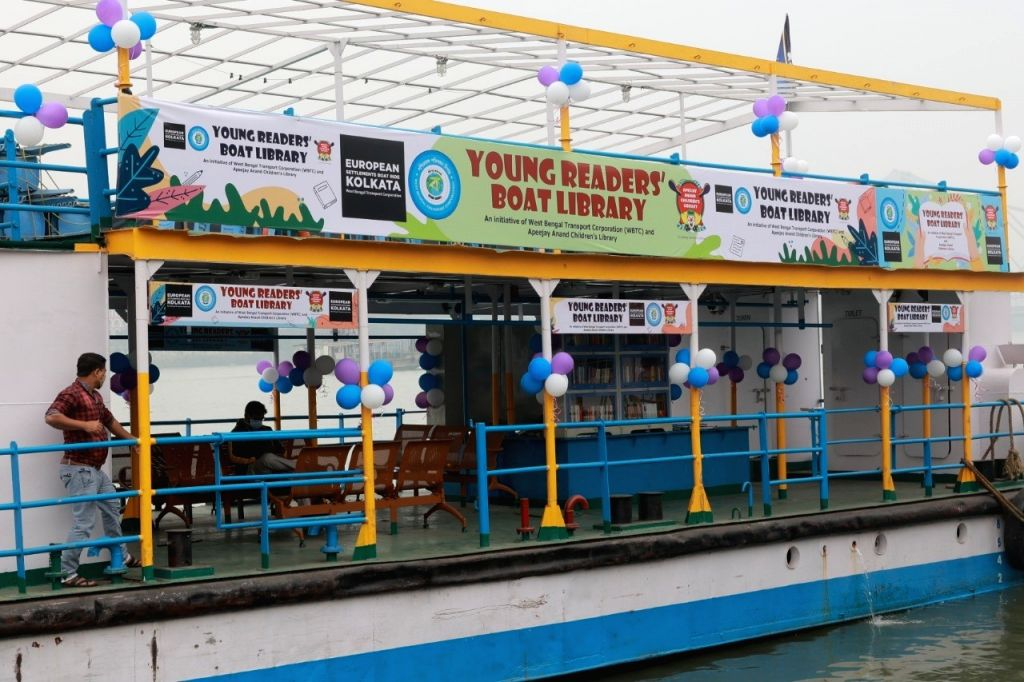 Kolkata Young Readers Boat Library launched.