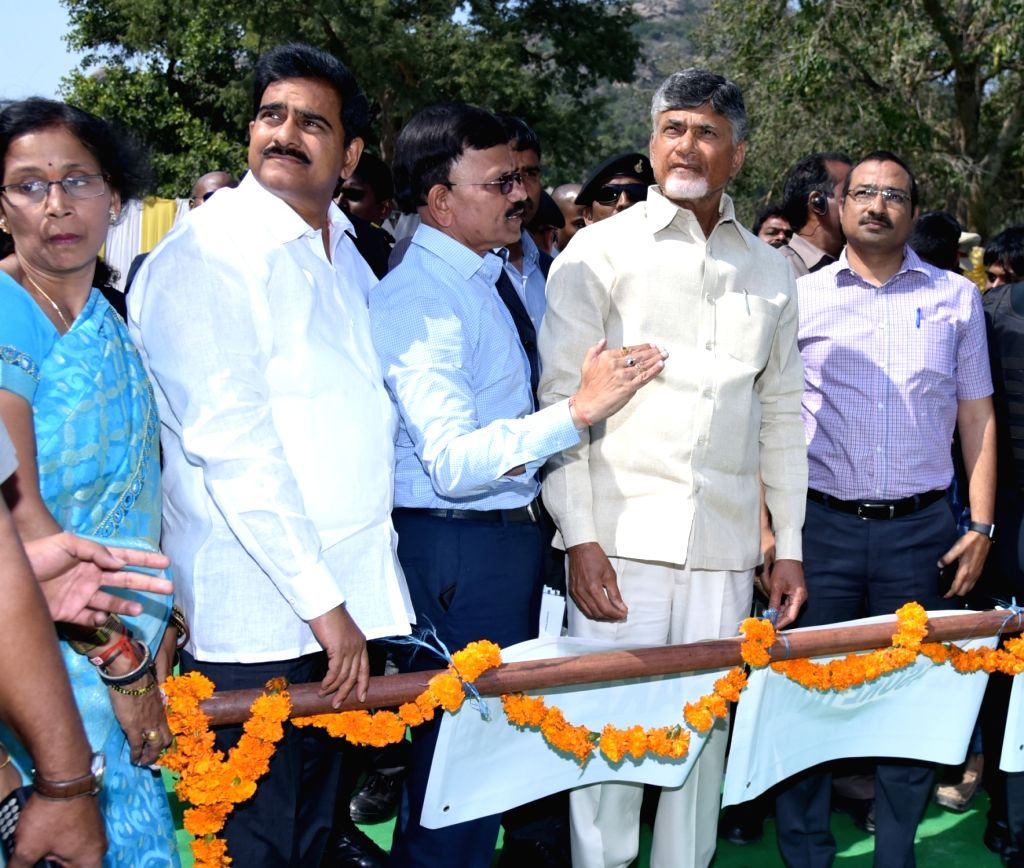 Kondapalli (Andhra Pradesh): Andhra Pradesh Chief Minister N. Chandrababu Naidu at the inauguration of renovated Kondapalli Fort in Krishna district, on Feb 4, 2019. - N. Chandrababu Naidu