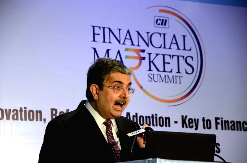 Kotak Mahindra Bank MD and CEO Uday Kotak addresses at Financial Markets Summit in Mumbai, on Dec 7, 2018.