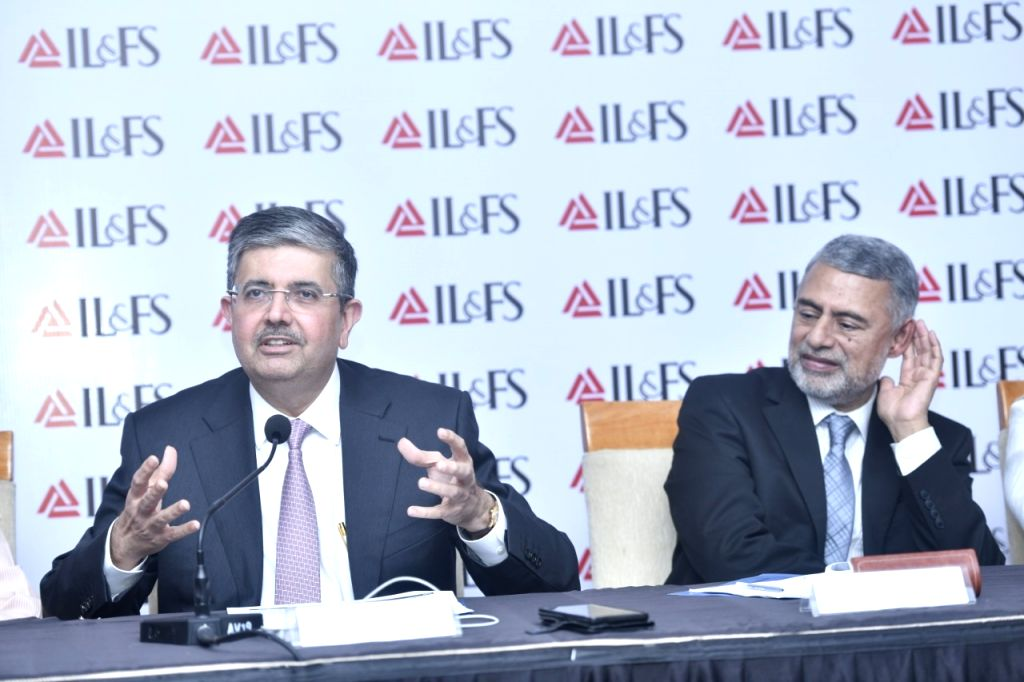Kotak Mahindra Bank MD and CEO Uday Kotak addresses during a press conference in New Delhi on Oct 1, 2019.