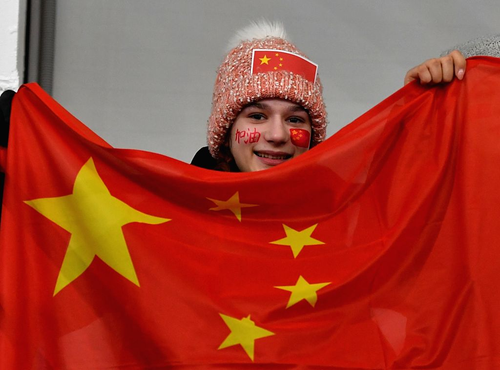KRASNOYARSK, March 6, 2019 - A fan of Team China reacts during the women's ice hockey preliminary round group A match between China and Japan at the 29th Winter Universiade in Krasnoyarsk, Russia, ...