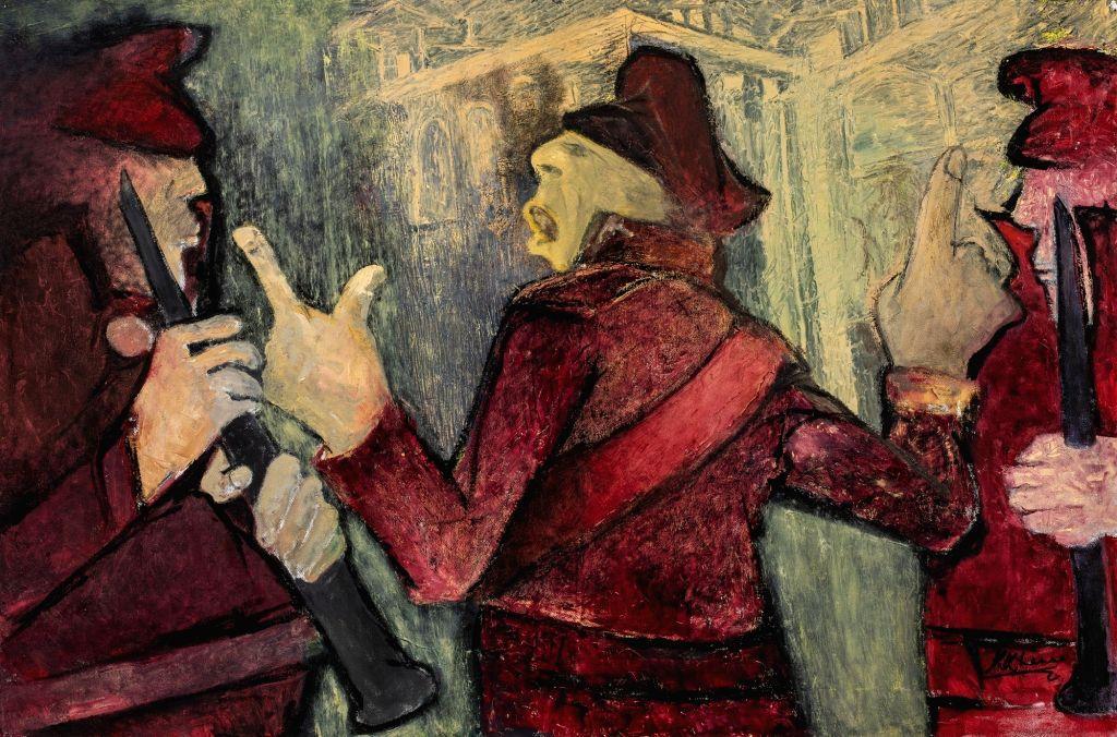 Krishen Khanna (born 1925), Untitled, Oil on canvas. - Krishen Khanna