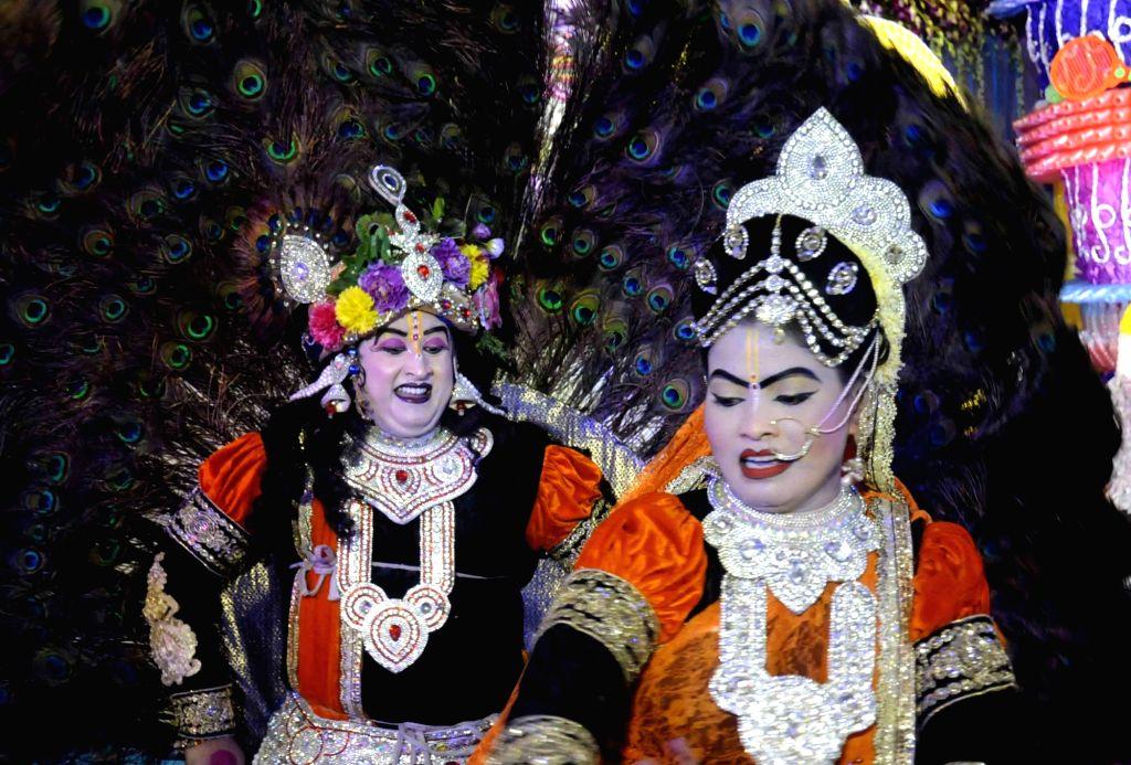 Krishna Janmashtami celebrations underway in Patna on Aug 15, 2017.