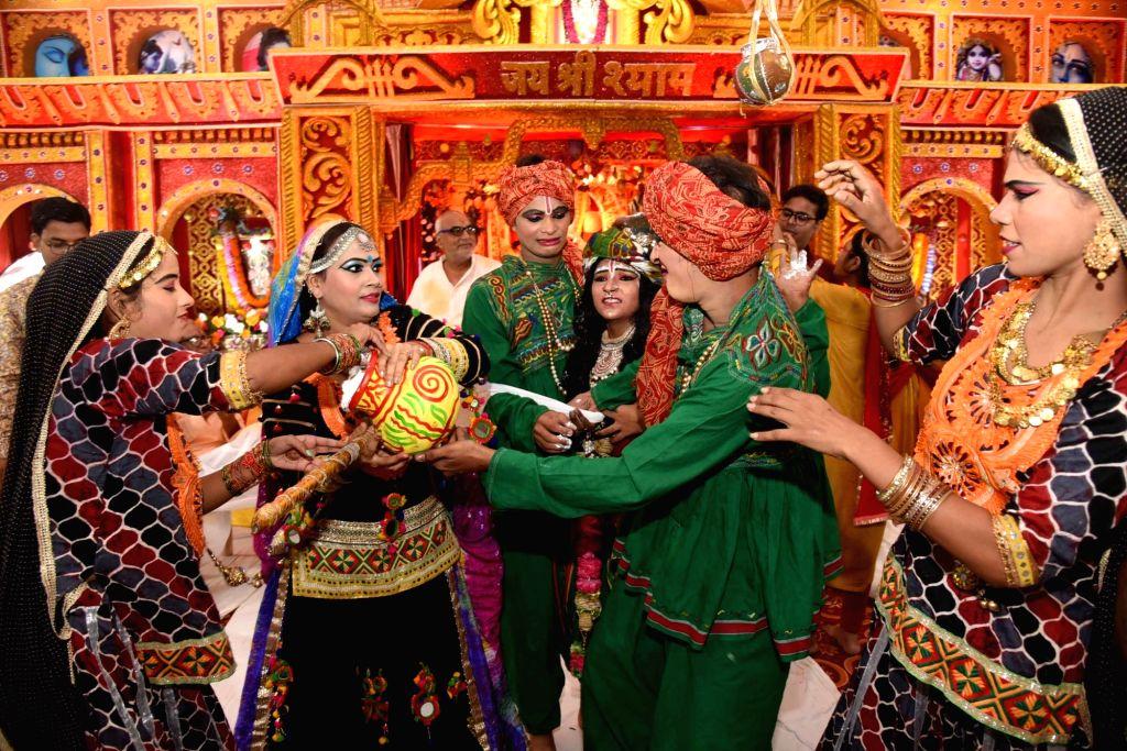 Krishna Janmashtami celebrations underway in Patna on Aug 24, 2019.