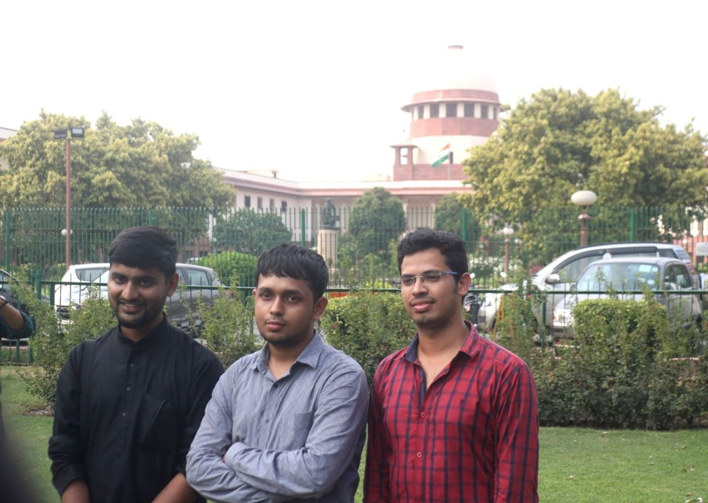 Krishna Reddy M, Romel Barel and Anwesh Pokkuluri - the three out of  a batch of 20 current and former students of Indian Institutes of Technology who had filed a petition against Section ... - Reddy M
