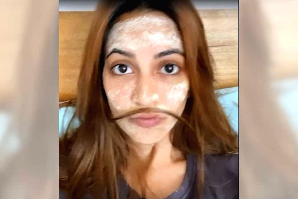 Kriti Kharbanda focusses on skincare amid lockdown.