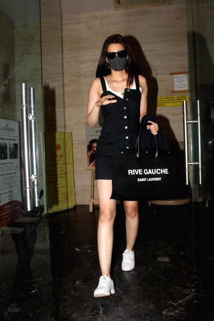 Kriti Sanon Spotted At David Dhawan's Office Juhu on Wednesday June 16,2021.