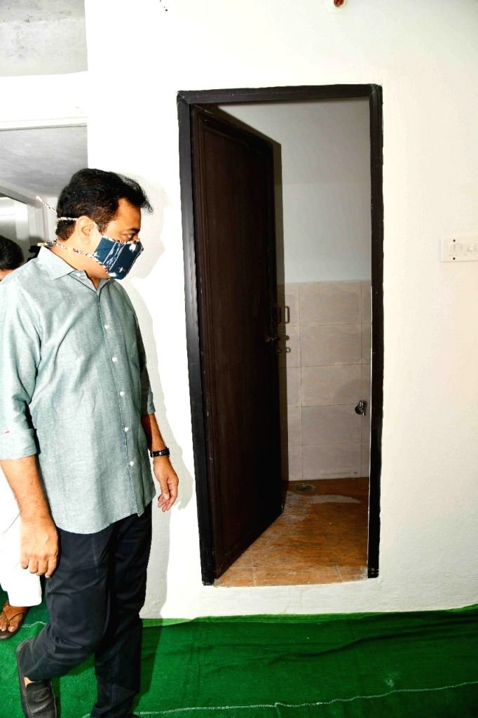 KTR inaugurates houses built under 2BHK Dignity Housing scheme.
