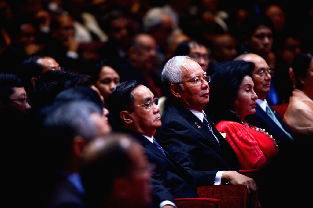 Malaysian Prime Minister Najib Razak (R, center) attends the opening ceremony of the 26th Association of Southeast Asian Nations (ASEAN) summit in Kuala ... - Najib Razak