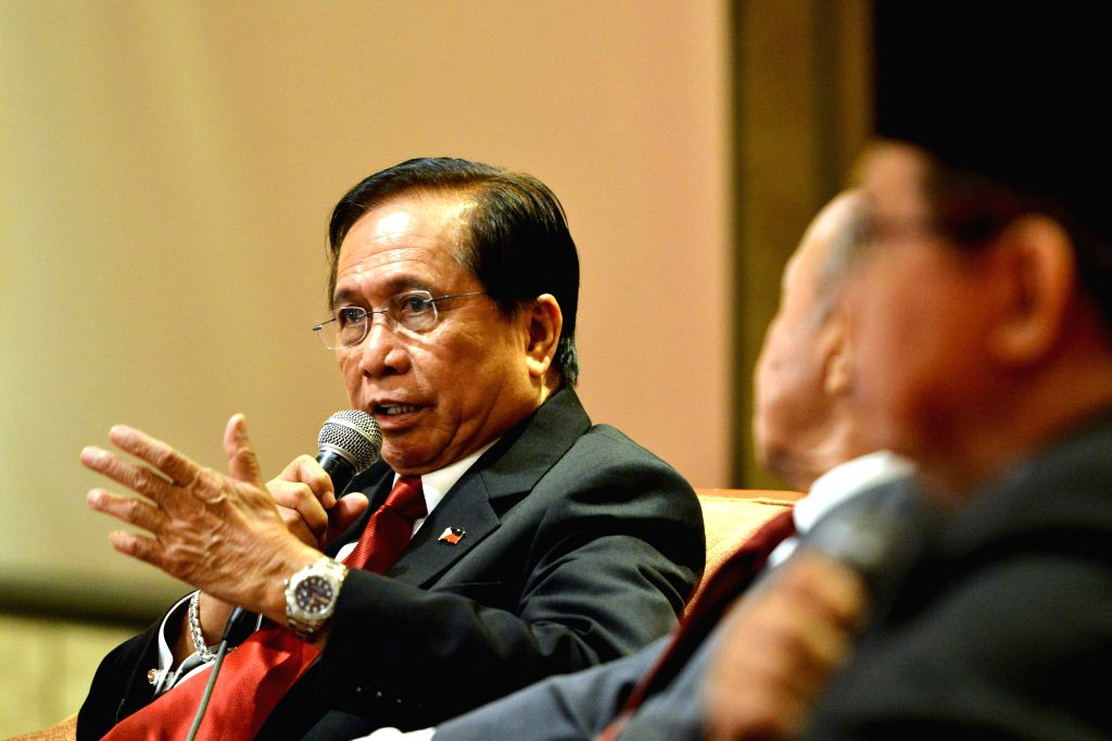 KUALA LUMPUR, Aug. 13, 2016 - Philippine presidential adviser on the peace process Jesus Dureza speaks during a press conference held in Kuala Lumpur, capital of Malaysia, Aug. 13, 2016. The ...