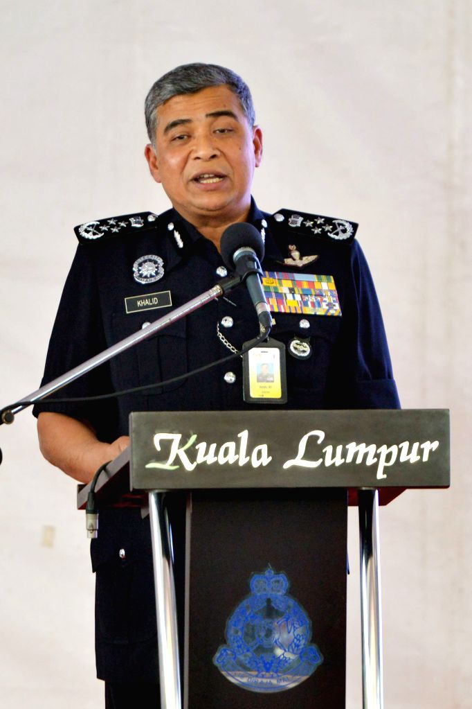 KUALA LUMPUR, March 10, 2017 - Malaysian national police chief Khalid Abu Bakar speaks during a press conference in Kuala Lumpur, Malaysia, March 10, 2017. Malaysian police for the first time ...